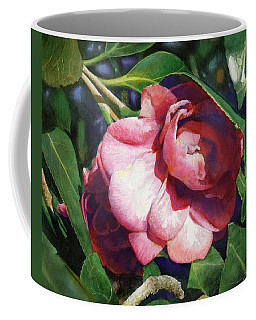 Coffee Mug featuring the painting Camellianne by Andrew King