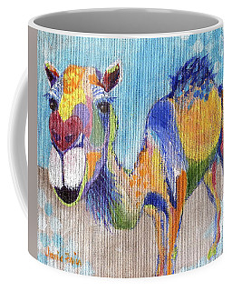 Coffee Mug featuring the painting Camelorful by Jamie Frier