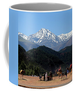 Coffee Mug featuring the photograph Camels 1 by Andrew Fare