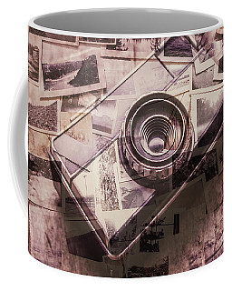 Camera Of A Vintage Double Exposure Coffee Mug