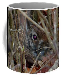 Coffee Mug featuring the photograph Camo Bunny by Rockin Docks Deluxephotos