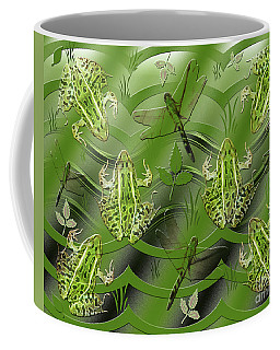 Coffee Mug featuring the photograph Camo Frog Dragonfly by Rockin Docks Deluxephotos