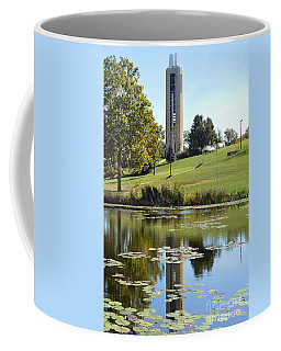 Campanile Reflection In Kansas Coffee Mug by Catherine Sherman