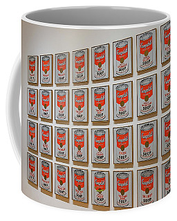 Coffee Mug featuring the photograph Campbell Soup By Warhol by Patricia Hofmeester