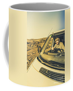 Camper Man On Adventure Coffee Mug