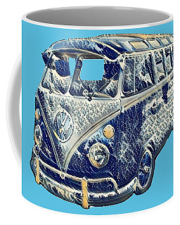 Coffee Mug featuring the photograph Camper Van Waves by John Colley