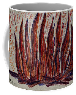 Campfire Flames Coffee Mug by Theresa Willingham