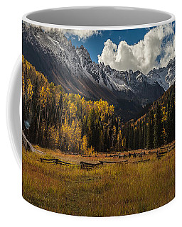 Coffee Mug featuring the photograph Camping In Colorado by Steven Reed