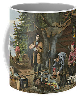 Camping In The Woods  A Good Time Coming Coffee Mug