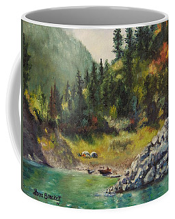 Camping On The Lake Shore Coffee Mug