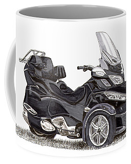 Coffee Mug featuring the painting Can-am Spyder Trike by Jack Pumphrey