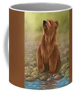 Coffee Mug featuring the painting Can I Dive? by Veronica Minozzi