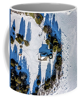 Cana Island Lighthouse Shadow Coffee Mug