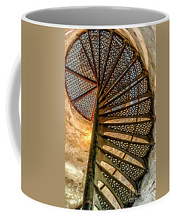 Coffee Mug featuring the photograph Cana Island Lighthouse Staircase by Thomas R Fletcher