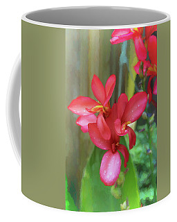 Coffee Mug featuring the photograph Canna Lily Delight  by Ola Allen