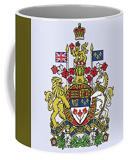 Coffee Mug featuring the drawing Canada Coat Of Arms by Movie Poster Prints