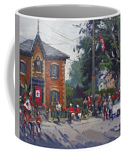 Canada Day Parade At Glen Williams  On Coffee Mug