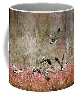Canada Geese In Flight Coffee Mug