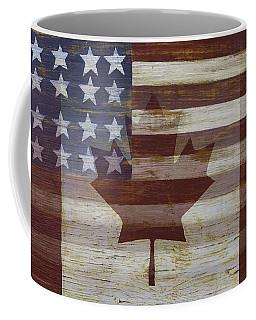 Canadian American Flag Coffee Mug