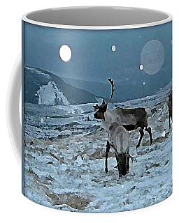 Canadian Elk By Moonlight Coffee Mug