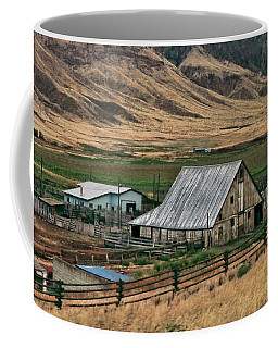 Coffee Mug featuring the photograph Canadian Farm by Ola Allen