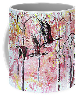 Canadian Geese In Flight Coffee Mug