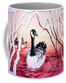 Canadian Geese Sunset Coffee Mug