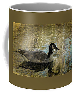 Coffee Mug featuring the painting Canadian Goose by Steven Richardson