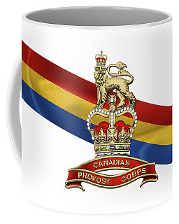 Canadian Provost Corps - C Pro C Badge Over Unit Colours Coffee Mug by Serge Averbukh