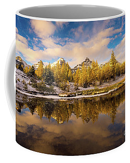 Canadian Rockies Golden Larches And Towering Peaks Coffee Mug