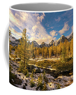 Canadian Rockies Golden Larches In Larch Valley Coffee Mug