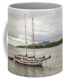 Canadian Sailing Schooner Coffee Mug by Timothy Latta