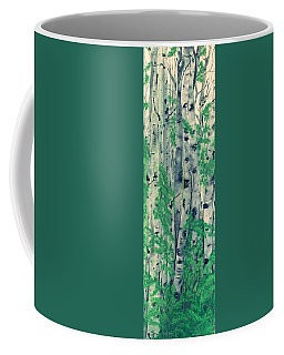 Coffee Mug featuring the painting Canadian White  Poplar by Sharon Duguay