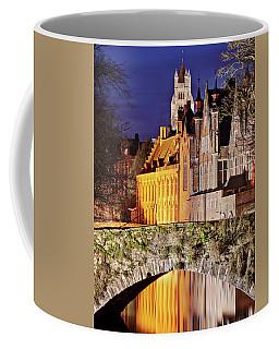 Canal Bridge At Night - Bruges Coffee Mug