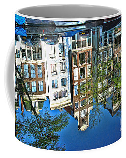 Coffee Mug featuring the photograph Amsterdam Canal Reflection  by Allen Beatty