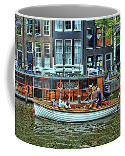 Coffee Mug featuring the photograph Amsterdam Canal Scene 10 by Allen Beatty