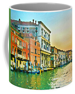 Canal Sunset - Venice Coffee Mug by Tom Cameron
