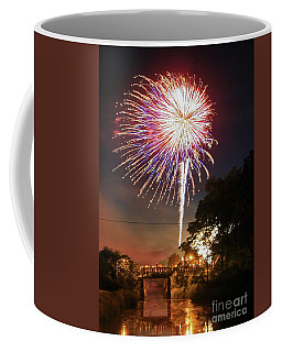Canal View Of Fire Works Coffee Mug