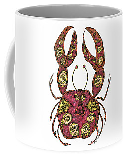 Coffee Mug featuring the drawing Cancer by Barbara McConoughey