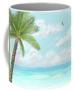 Coffee Mug featuring the digital art Cancun At Christmas by Darren Cannell