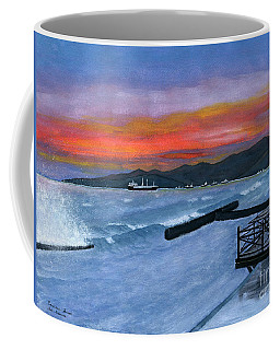 Coffee Mug featuring the painting Candidasa Sunset Bali Indonesia by Melly Terpening