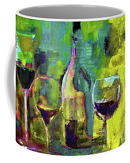 Candle In A Tall Wine Glass By Lisa Kaiser Coffee Mug