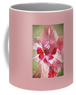Candy Cane Gladiola Coffee Mug by Kathi Mirto