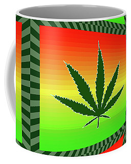 Coffee Mug featuring the mixed media Cannabis  by Dan Sproul