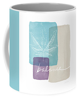 Coffee Mug featuring the mixed media Cannabis Leaf Watercolor 3- Art By Linda Woods by Linda Woods