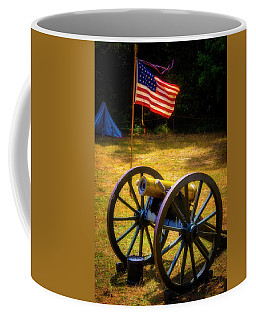 Cannon And Flag Coffee Mug