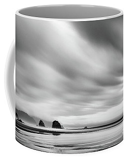 Cannon Beach Long Exposure Sunrise In Black And White Coffee Mug