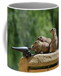Cannon With A Group Of Prairie Dog Soldiers Coffee Mug