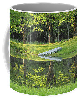 Canoe At Ponds Edge Coffee Mug