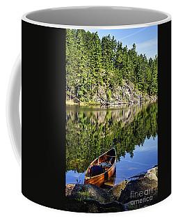 Canoe At Slim Lake Coffee Mug